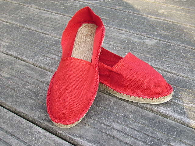 Espadrilles rouges taille 46