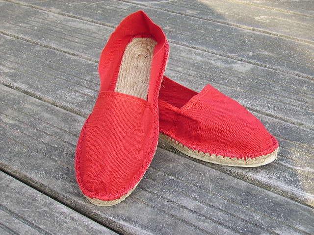 Espadrilles rouges taille 37