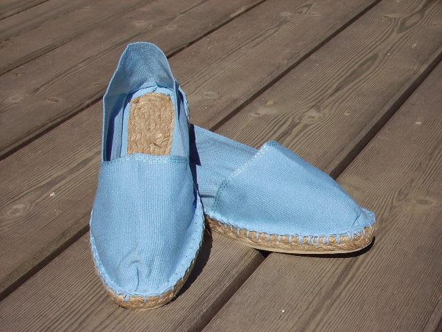 Espadrilles bleu ciel taille 42