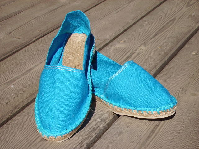 Espadrilles turquoise taille 35