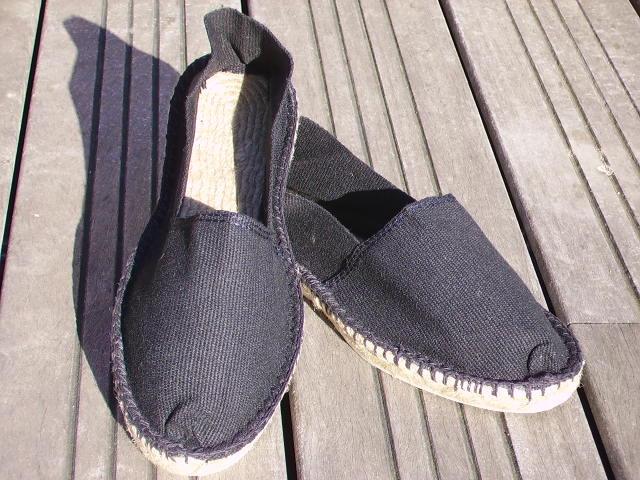 Espadrilles noires taille 47