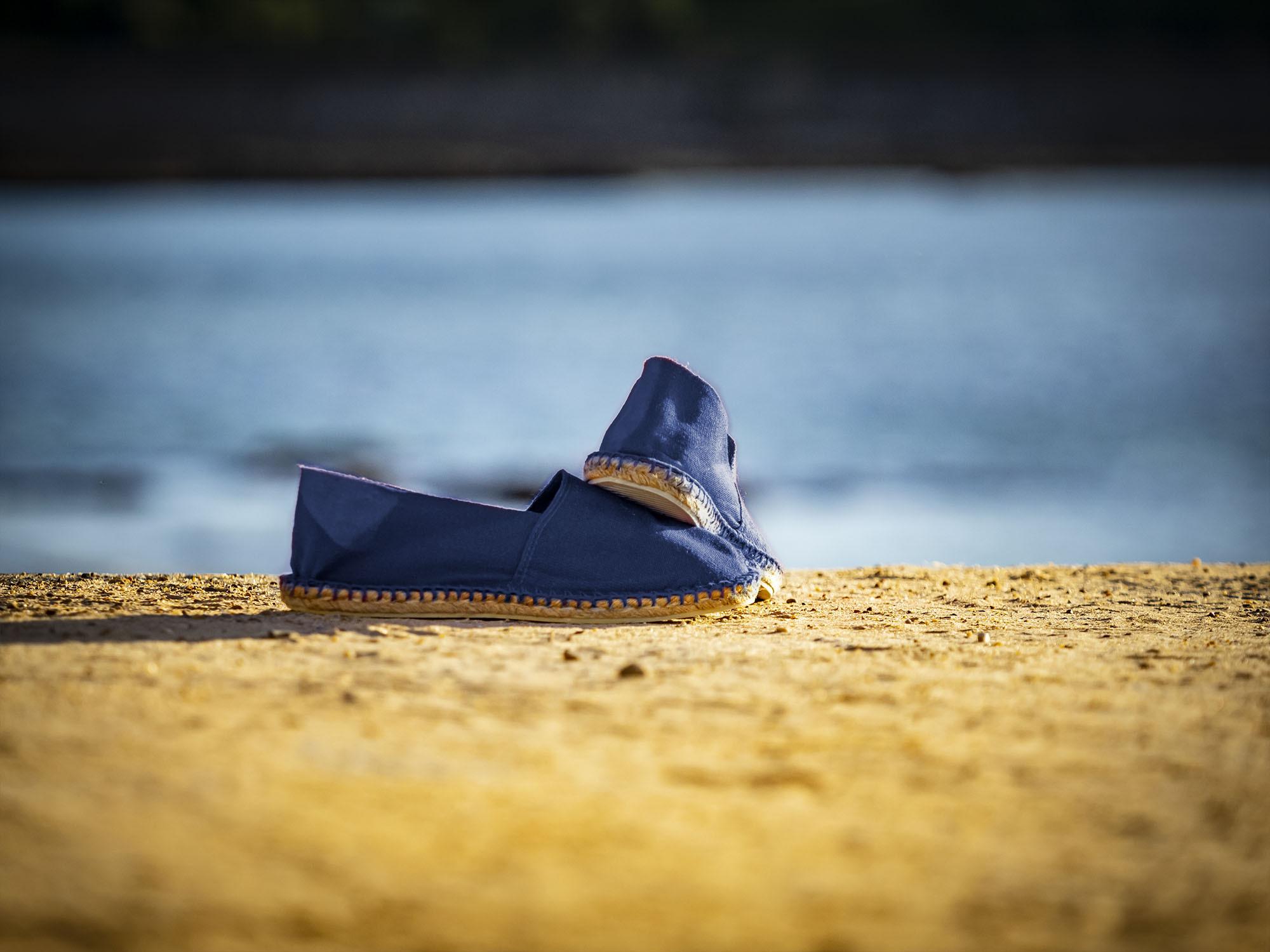 Espadrille bleu marine fabriquée en France