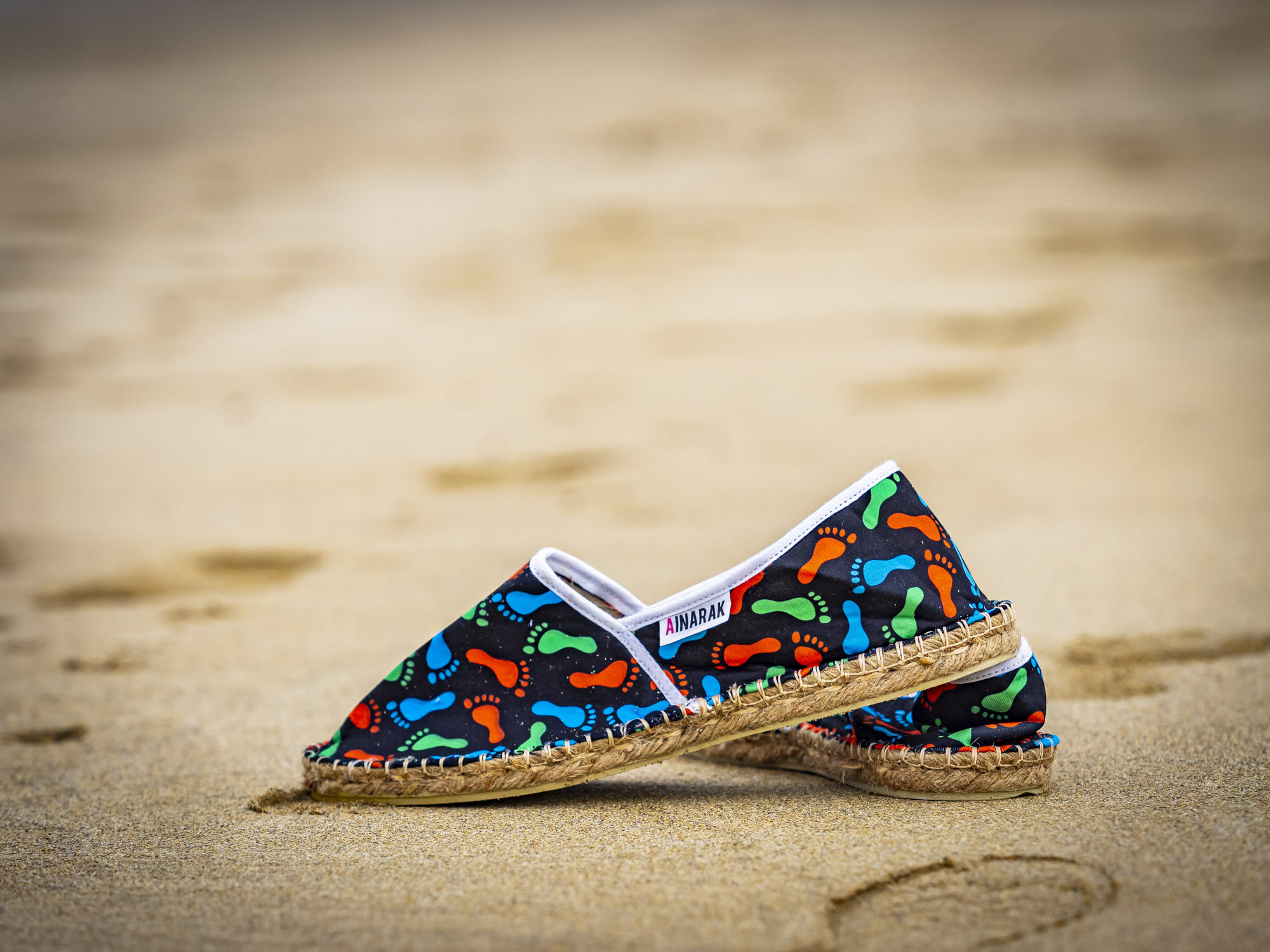 Espadrille color foot fabriquée en France
