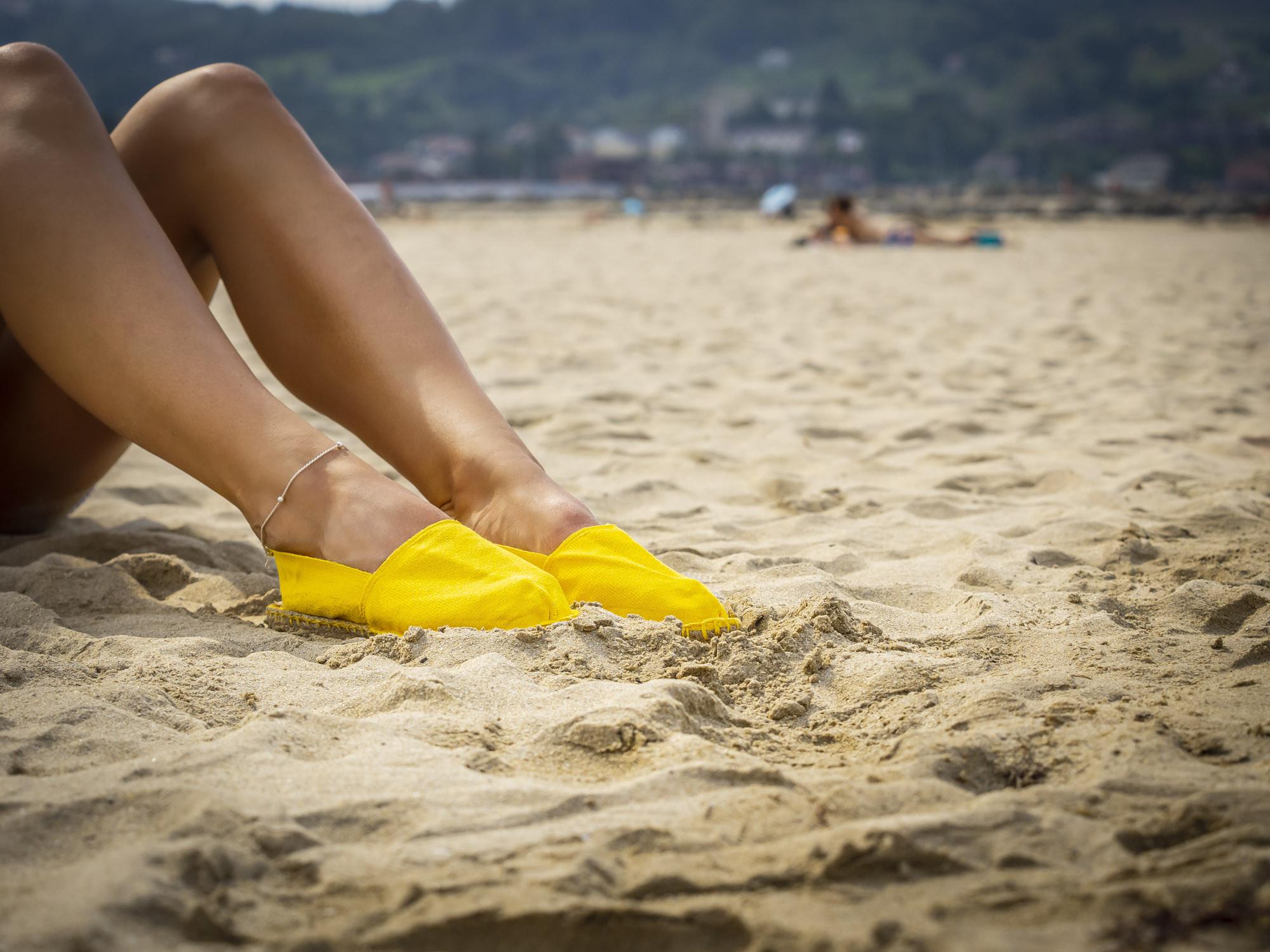 Espadrille jaune fabriquée en France