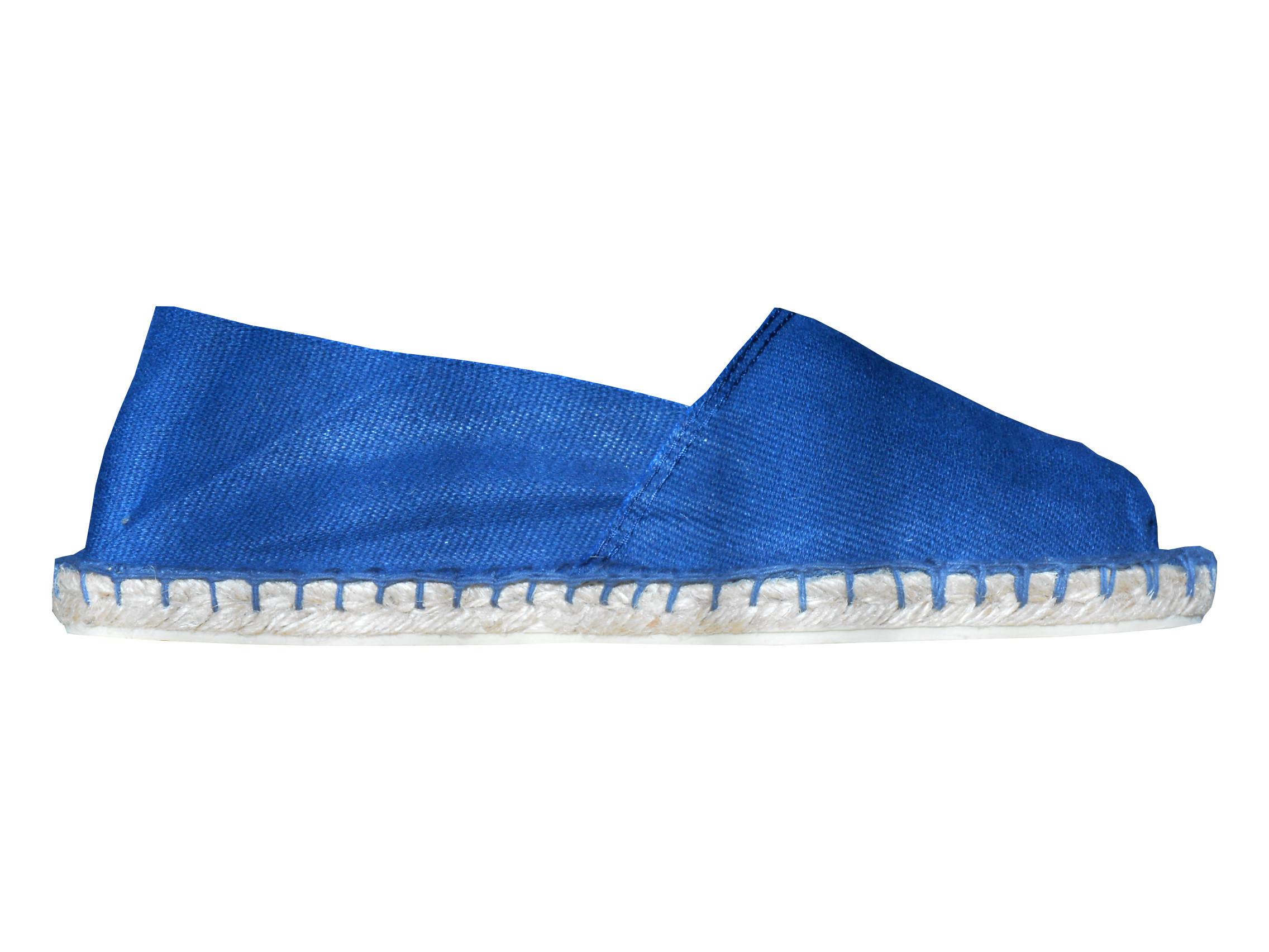 Espadrilles bleu indigo