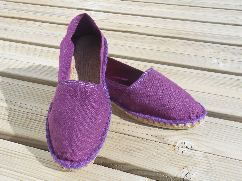 Espadrilles basques violette taille 45