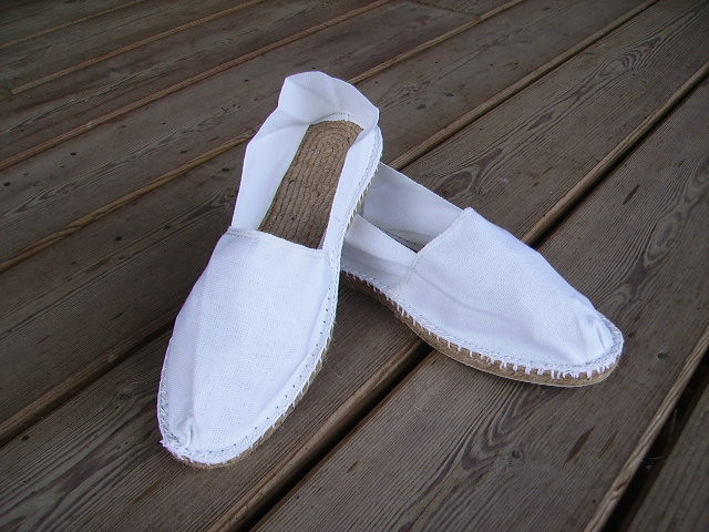 Espadrilles blanches taille 44
