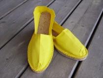 Espadrilles jaunes taille 47