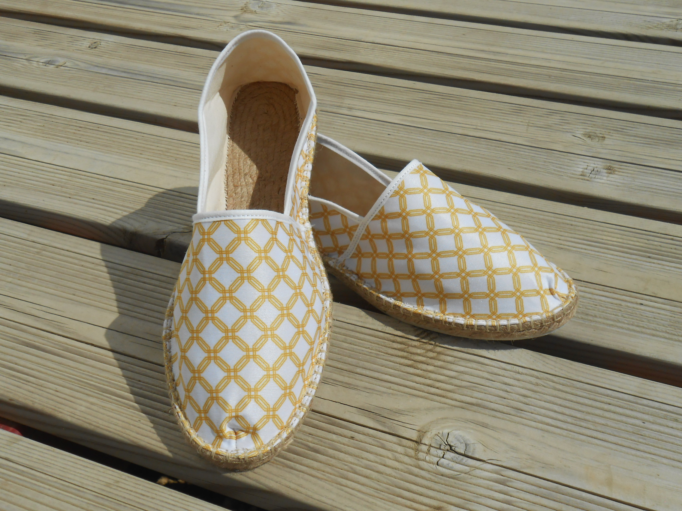 Espadrilles geometric gold taille 47