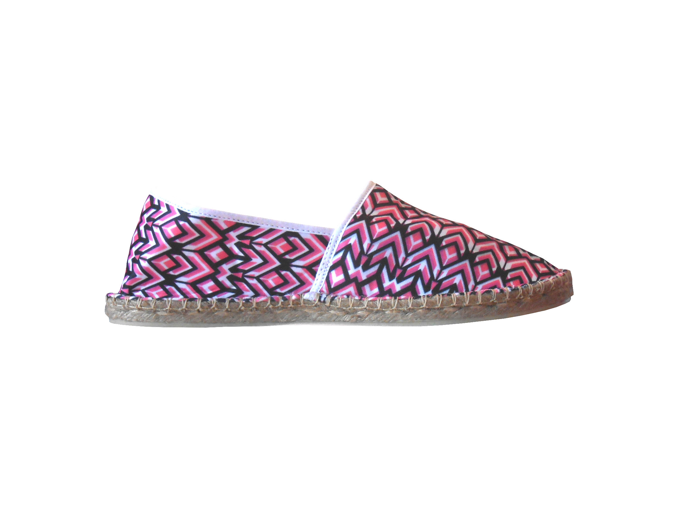 Espadrilles geometric pink taille 42