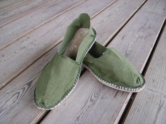 Espadrilles kaki taille 45