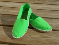 Espadrilles vert fluo