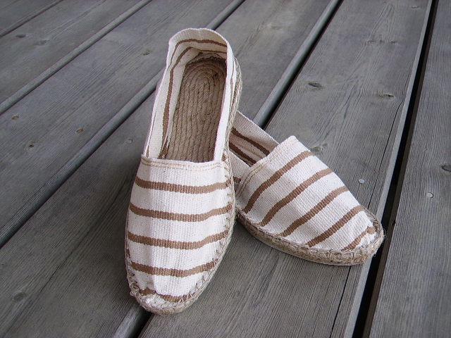 Espadrilles blanc cassé et beige taille 35
