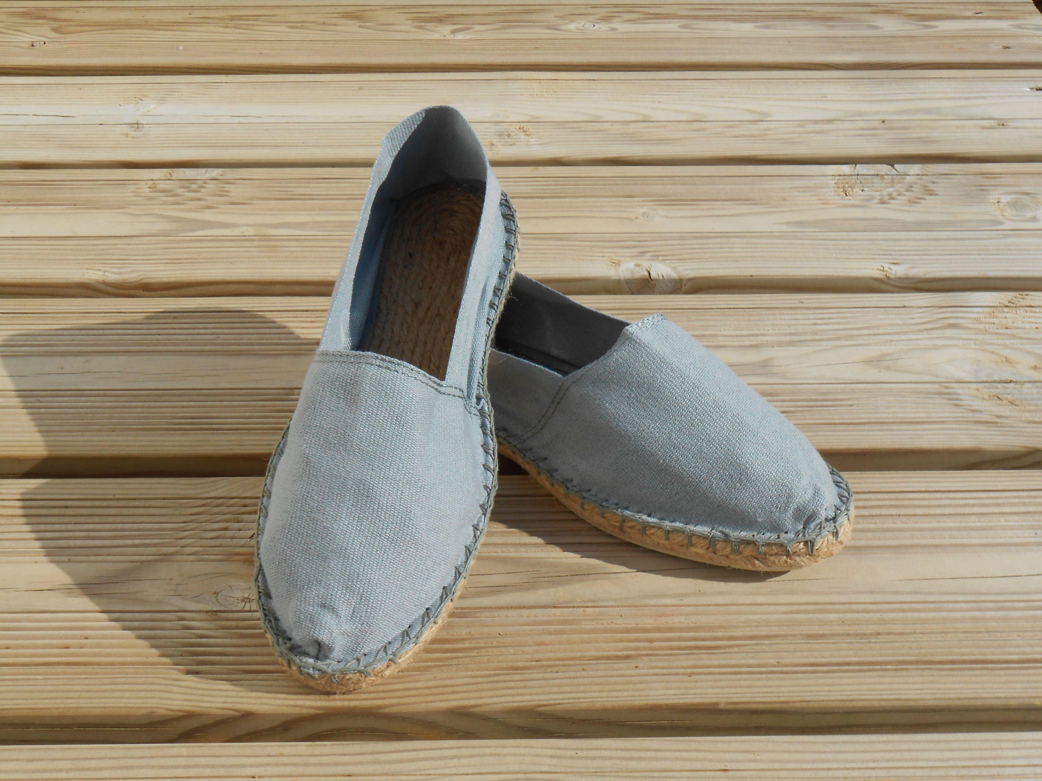 Espadrilles grises taille 43