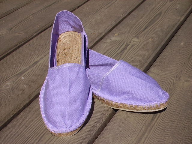 Espadrilles lilas taille 45