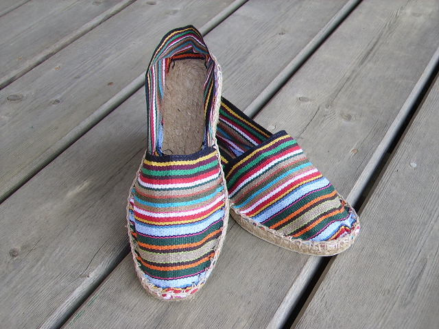 Espadrilles rayées multicolores taille 44
