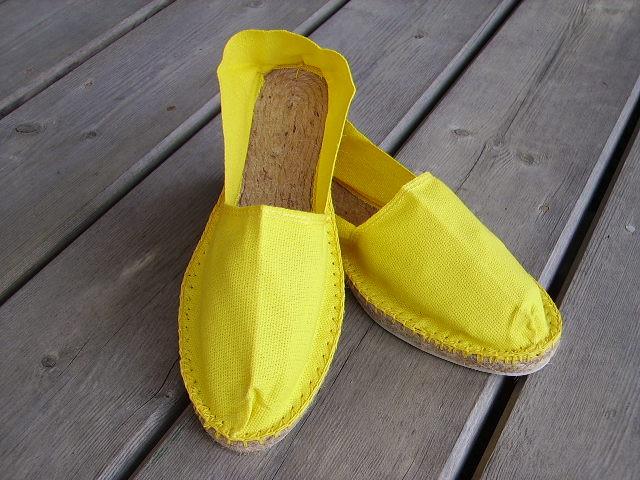 Espadrilles jaunes taille 44