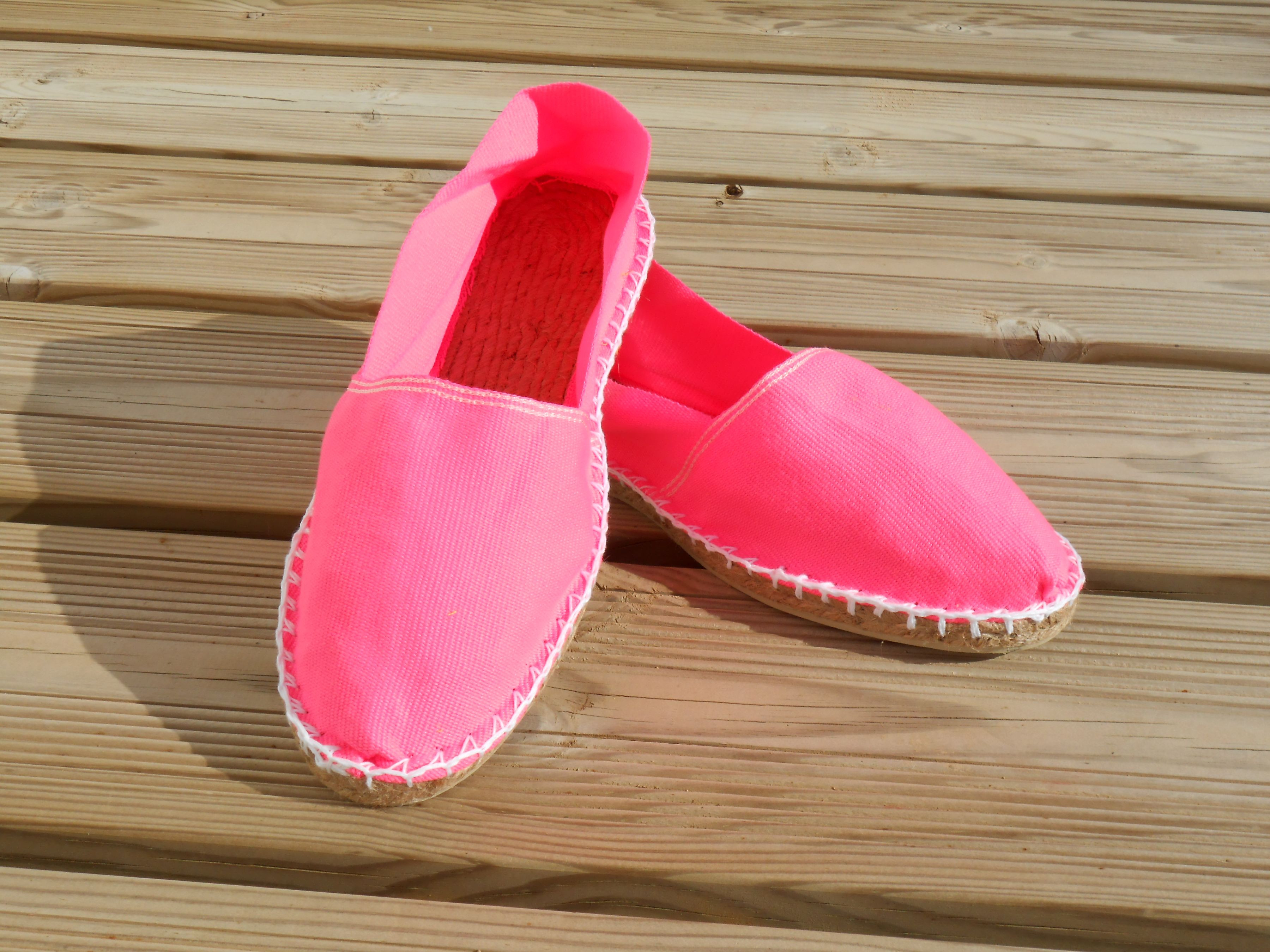 Espadrilles rose fluo taille 39