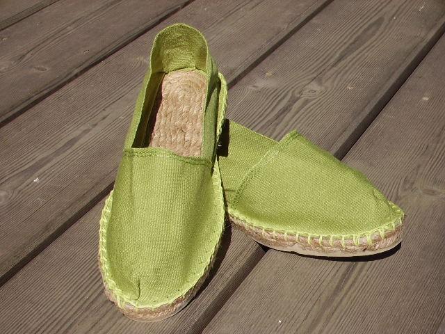 Espadrilles vert anis taille 40
