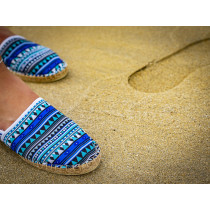 Espadrille azteque fabriquée en France