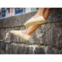 Espadrille geometric gold fabriquée en France