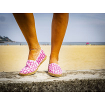 Espadrille mandala fushia fabriquée en France