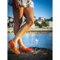 Espadrille orange fabriquée en France
