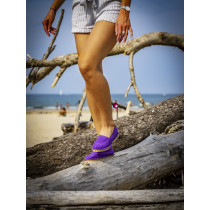 Espadrille violette fabriquée en France