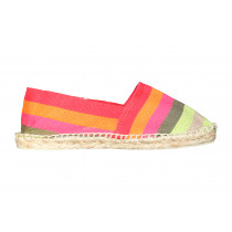 Espadrilles à rayures larges multicolores