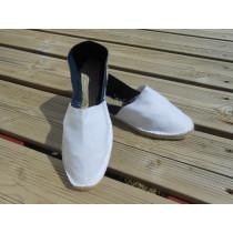 Espadrilles bicolores blanche et jean Taille 46