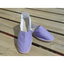 Espadrilles bicolores lilas et blanc taille 45