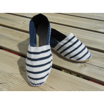 Espadrilles bicolores rayées marines Taille 47