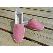 Espadrilles bicolores rose et blanc taille 45