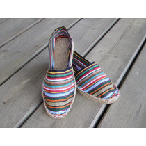 Espadrilles rayées multicolores taille 45