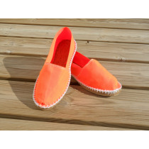 Espadrilles orange fluo taille 43