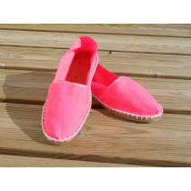 Espadrilles rose fluo taille 40