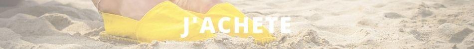 Acheter espadrille jaune